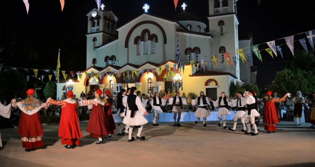 Συμμετοχή του Χορευτικού Ομίλου Ειρήνη στην εορτή των Αγ. Αναργύρων Νέας Ιωνίας.